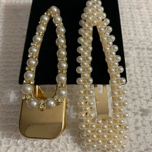 Metal Gold with Pearls
